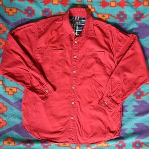 Wrangler Flannel-Lined LS Button Down Shirt